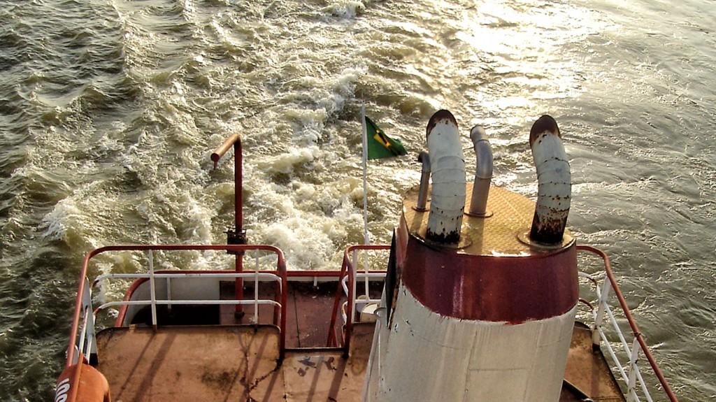 A hidrovia do Rio Tapajós, no Pará, em fotografia de Luciana Macêdo.(FotosPúblicas)
