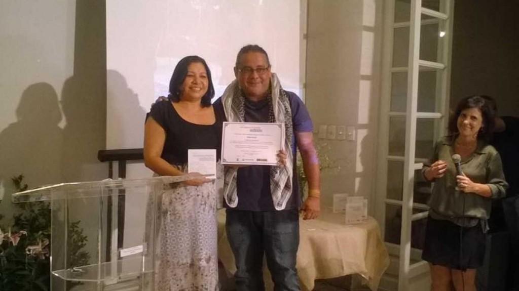 Kátia Brasil recebeu a premiação de Marquinho Mota, da Faor (Rio de Janeiro 12/08/15)