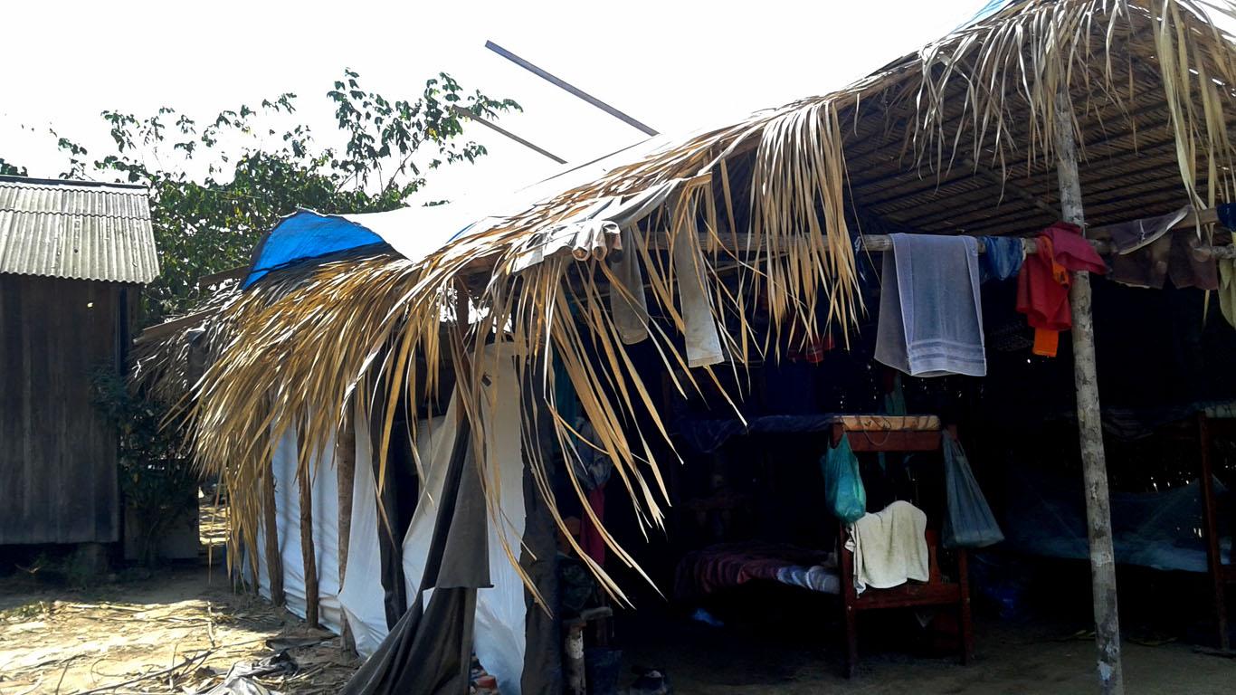 """O alojamento """"barraco"""" improvisado para os trabalhadores (Foto: Ibama)"""
