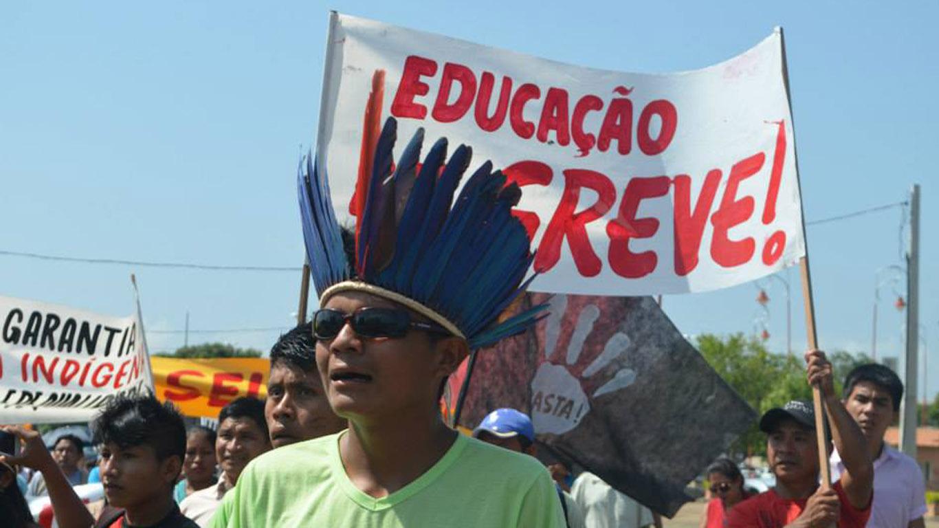 Movimento está centralizado na Praça do Centro Cívico, na zona central de Boa Vista. (Foto: Mayra Wapichana/CIR)