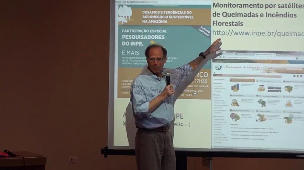 O coordenador do programa do Inpe, Alberto Setzer (Foto: Reprodução)