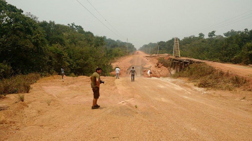 A repavimentação da estrada é uma obra do PAC (Foto:  F5 Comunicação)
