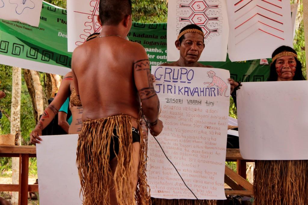 Paumari apresentam história vencedora (Fotos Oiara Bonilla)
