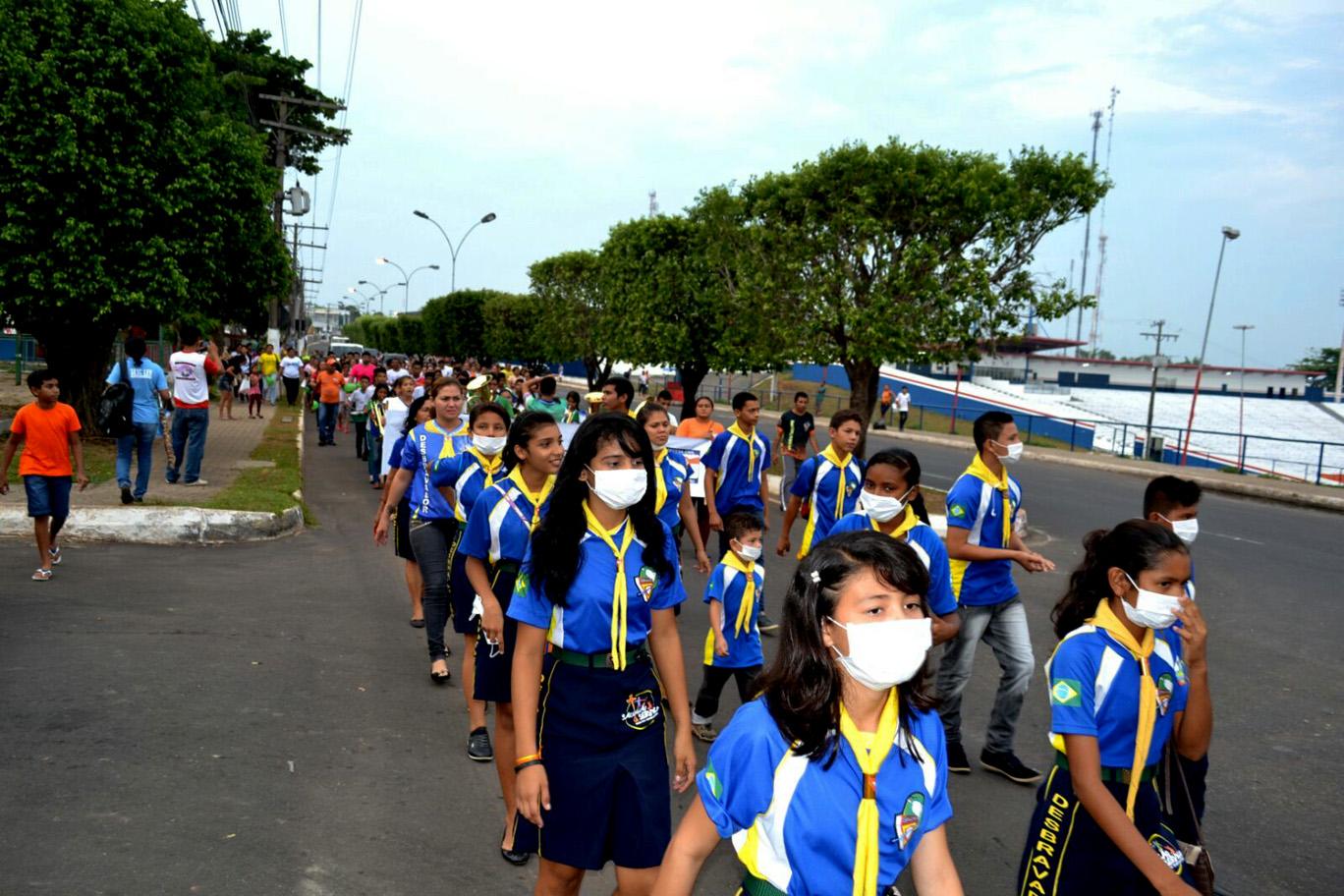 População protesta contra as queimadas nas florestas de Manacapuru (AM)