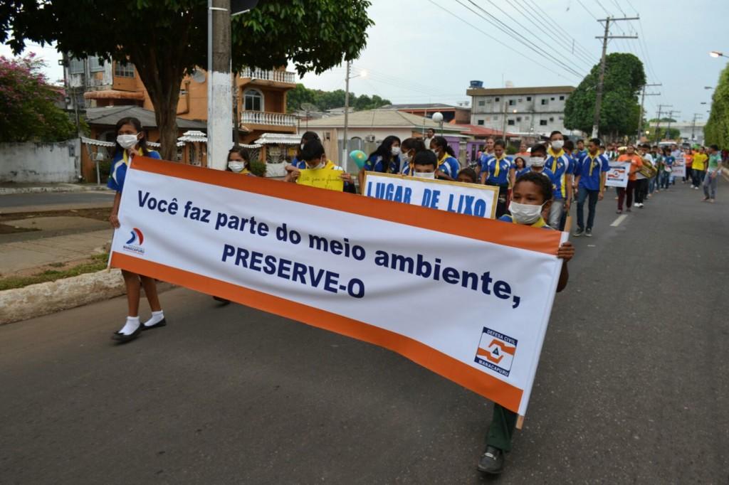Protesto foi organizado pela Secretaria Municipal de Proteção e Defesa do Meio Ambiente (Foto: José Alberto de Lima (Zeg-Deg)