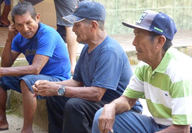 Os pajés Luciano Barreto, Avelino Nobre e Ouvídio Barreto (Fotos: João Paulo Barreto/AmReal)