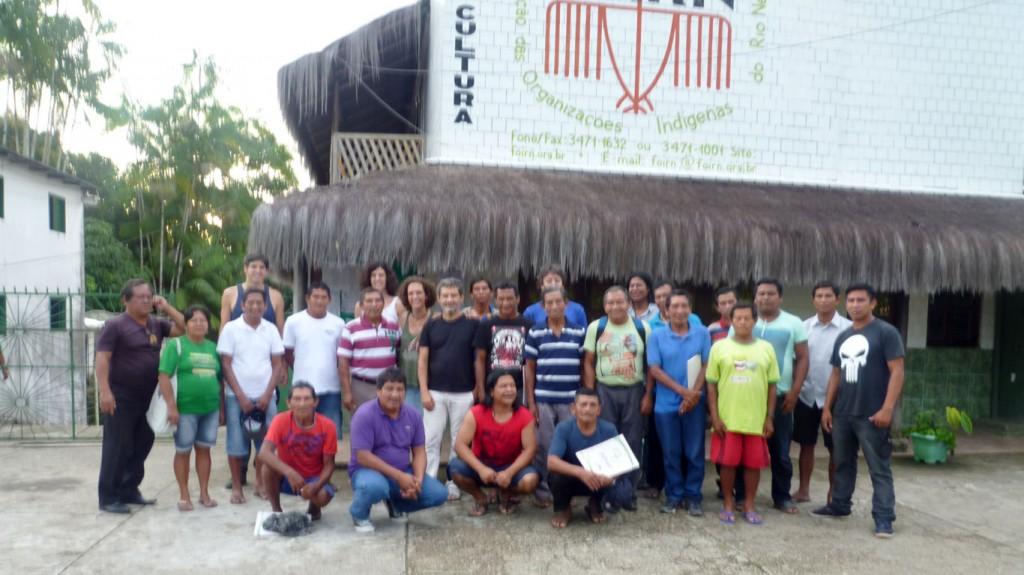 Os participantes do Simpósio de Kumuã (pajés) tukano em São Gabriel da Cachoeira, no Alto Rio Negro, Amazonas. (Fotos:  João Paulo Barreto/AmReal)