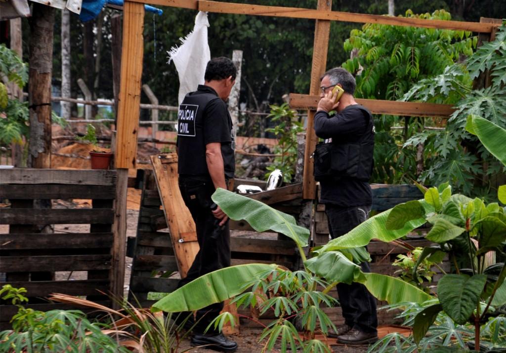 """Policias em ação da Operação """"Blakout"""" na invasão Cidades das Luzes no dia 7 de outubro. (Foto: Erlon Rodrigues (Polícia Civil)"""