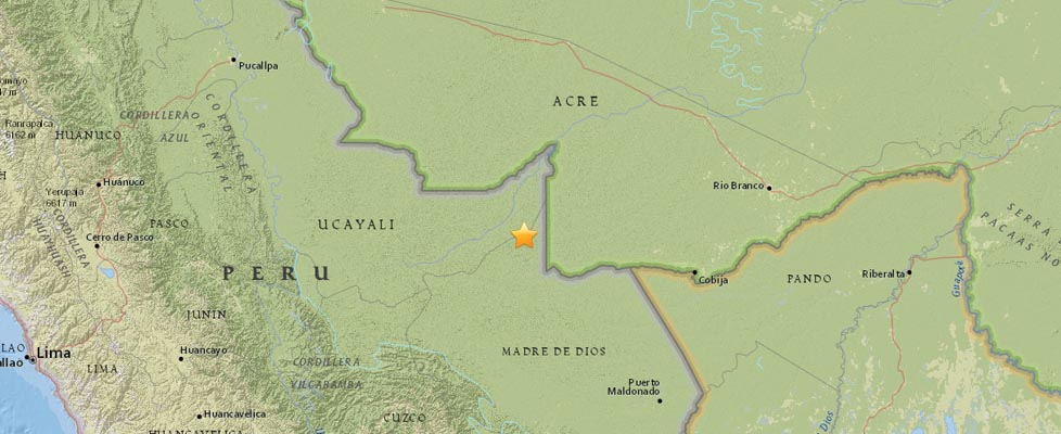 Veja aqui o mapa completo do Serviço Geológico Americano