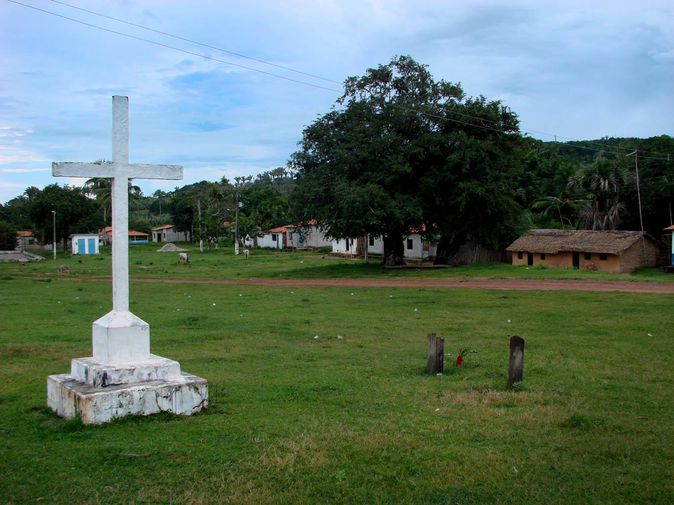 Largo da Igreja em Itamatatiua (Foto: Paulo Hebmüller/AmReal)