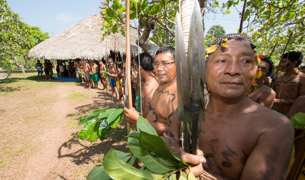 Os índios Waimiri Atroari (Foto: Mário Vilela/Funai)