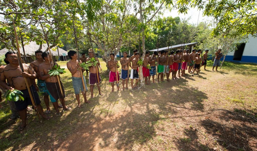 Povos Waimiri Atroari na terra indígena (Foto: Mário Vilela/Funai)