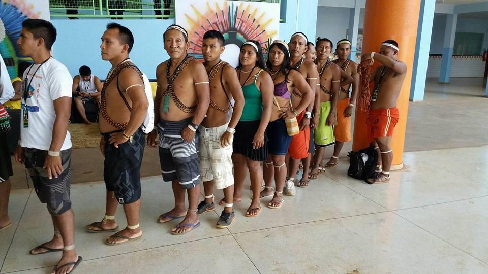 Os índios Matís em Atalaia do Norte (Foto: AIMA)