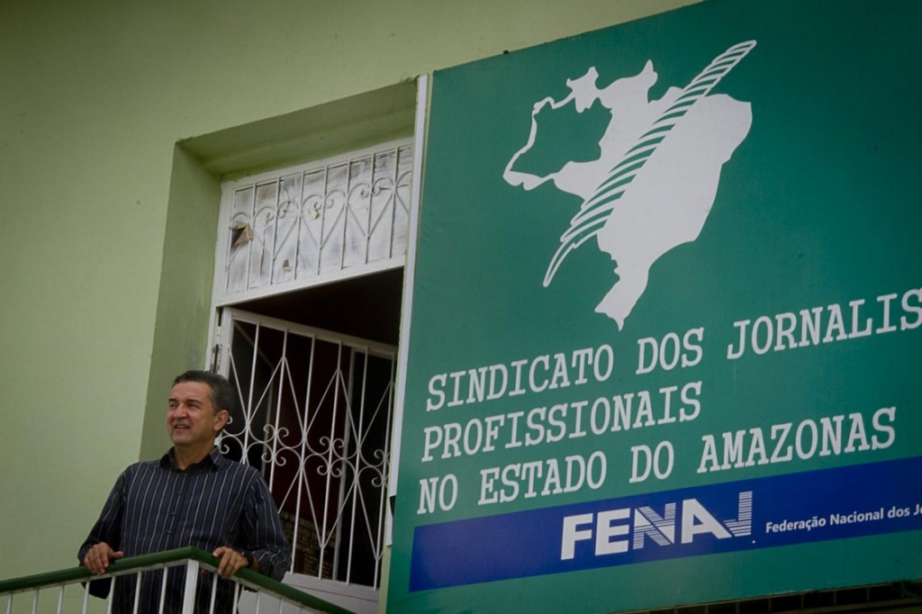 O presidente do Sindjor-AM, jornalista Wilson Reis (Foto: Alberto César Araújo/AmReal)