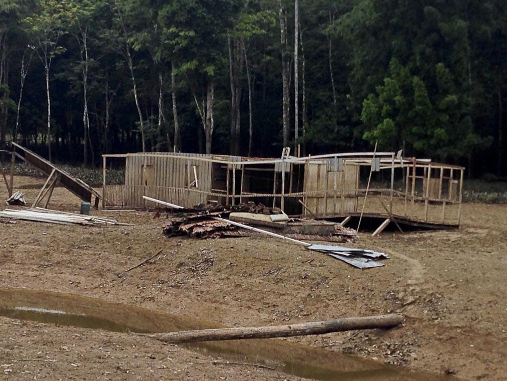 O alojamento da Funai em 2015, no Vale do Javari (Foto: Antenor Vaz)