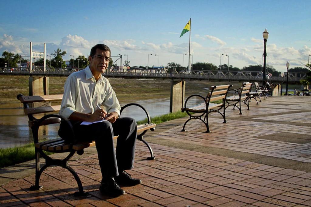O jornalista Gerson Rondon (Fotos de Odair Leal/AmReal)
