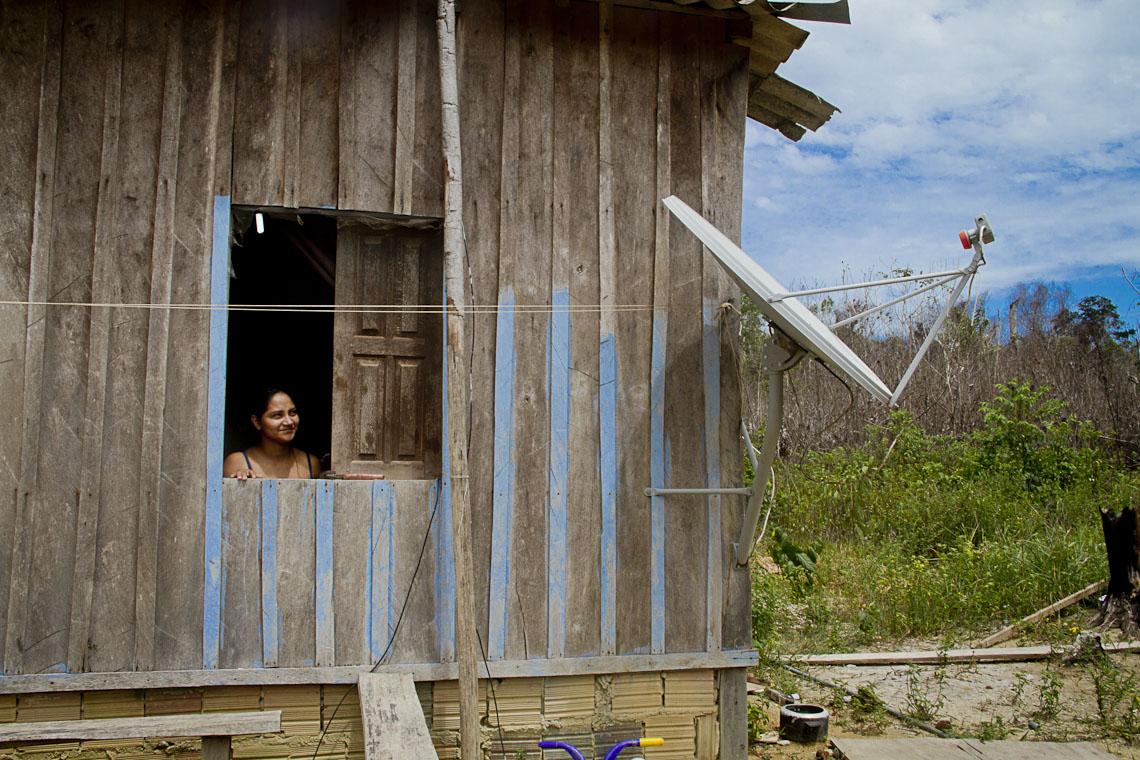 A agricultora Jomara Santo, na Comunidade Boa Esperança. (Foto: Alberto César Araújo/AmReal)