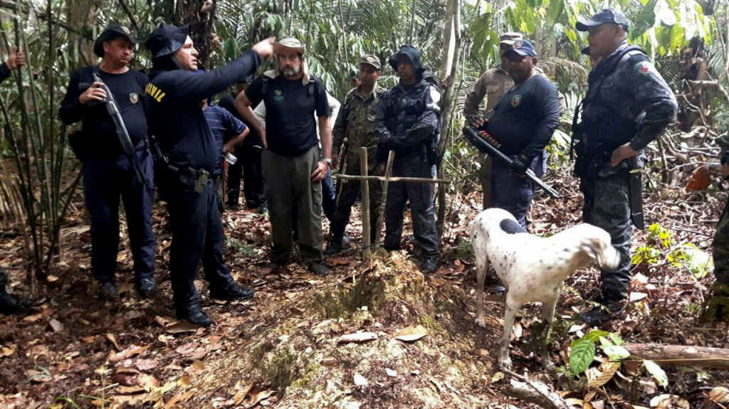 Operação de buscas da Polícia Civil na reserva Utumã em janeiro (Foto: Divulgação PC)