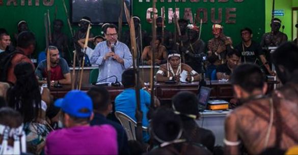 O presidente da Funai, João Pedro Gonçalves em Atalaia do Norte. (Foto: Mário Vilela/Funai)