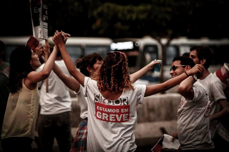 Os protestos dos jornalistas nas ruas de Belém (Foto: Sindjor-PA)