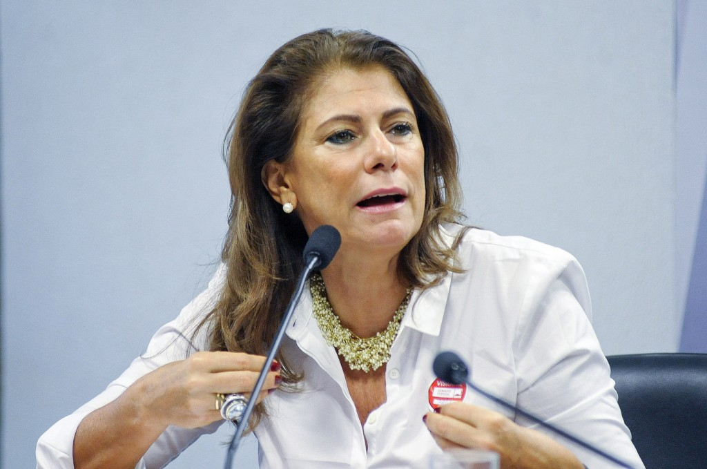 A presidente do Ibama, Marilene Ramos na audiência do Senado. (Foto: Pedro França/AS)