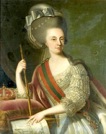 Rainha Maria Francisca Isabel Josefa. Desenho de Giuseppe Troni.