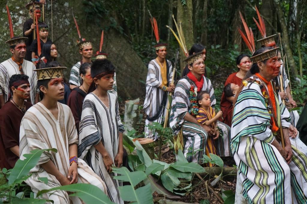Fotografia de Sebastião Salgado cedida para os índios Ashaninka do rio Amônia.