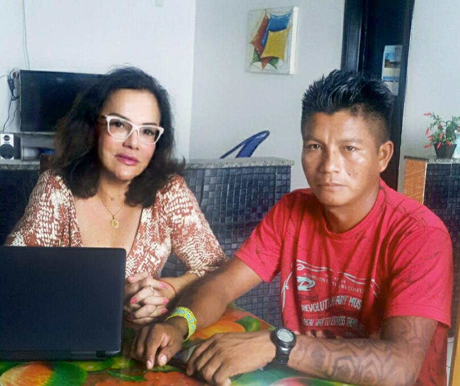 A advogada Mary Cohen e Dadá Borari (Foto: Arquivo pessoal)