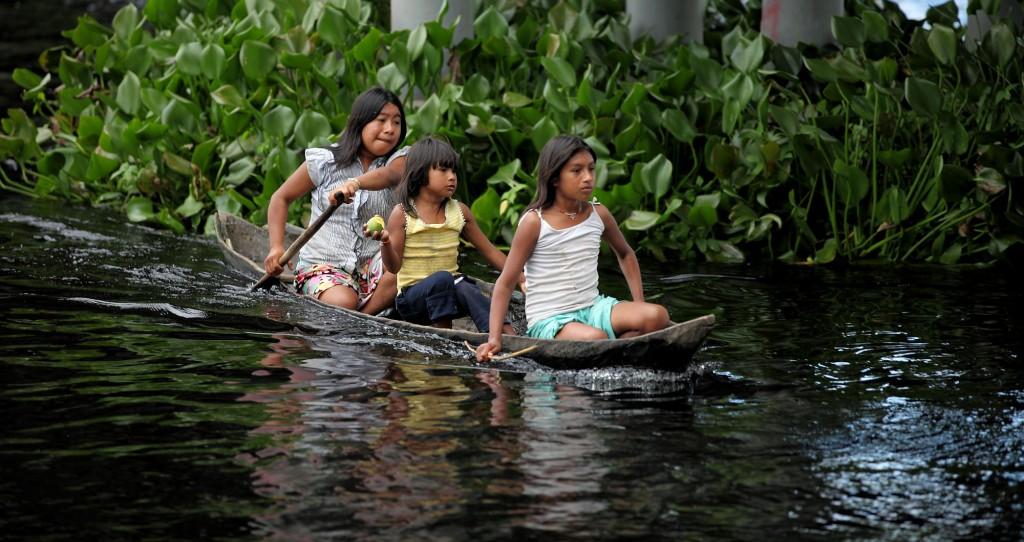 Índios Warao da aldeia Curiara, no Delta Orinoco (Foto: Divulgação)