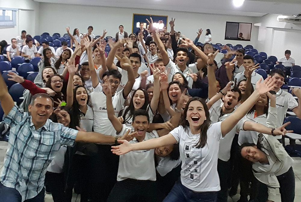 Verônica Machado durante palestra em Fortaleza (Foto: Arquivo pessoal)