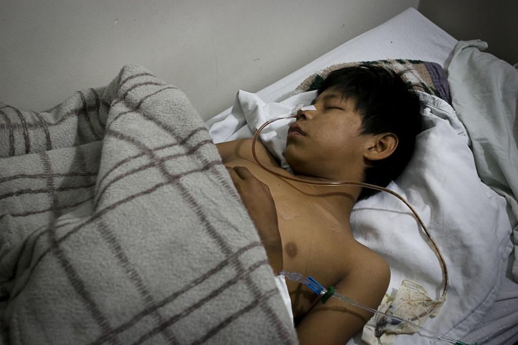 Menino está internado no Hospital da Vida, em Dourados (Foto: Ana Mendes/Cimi)