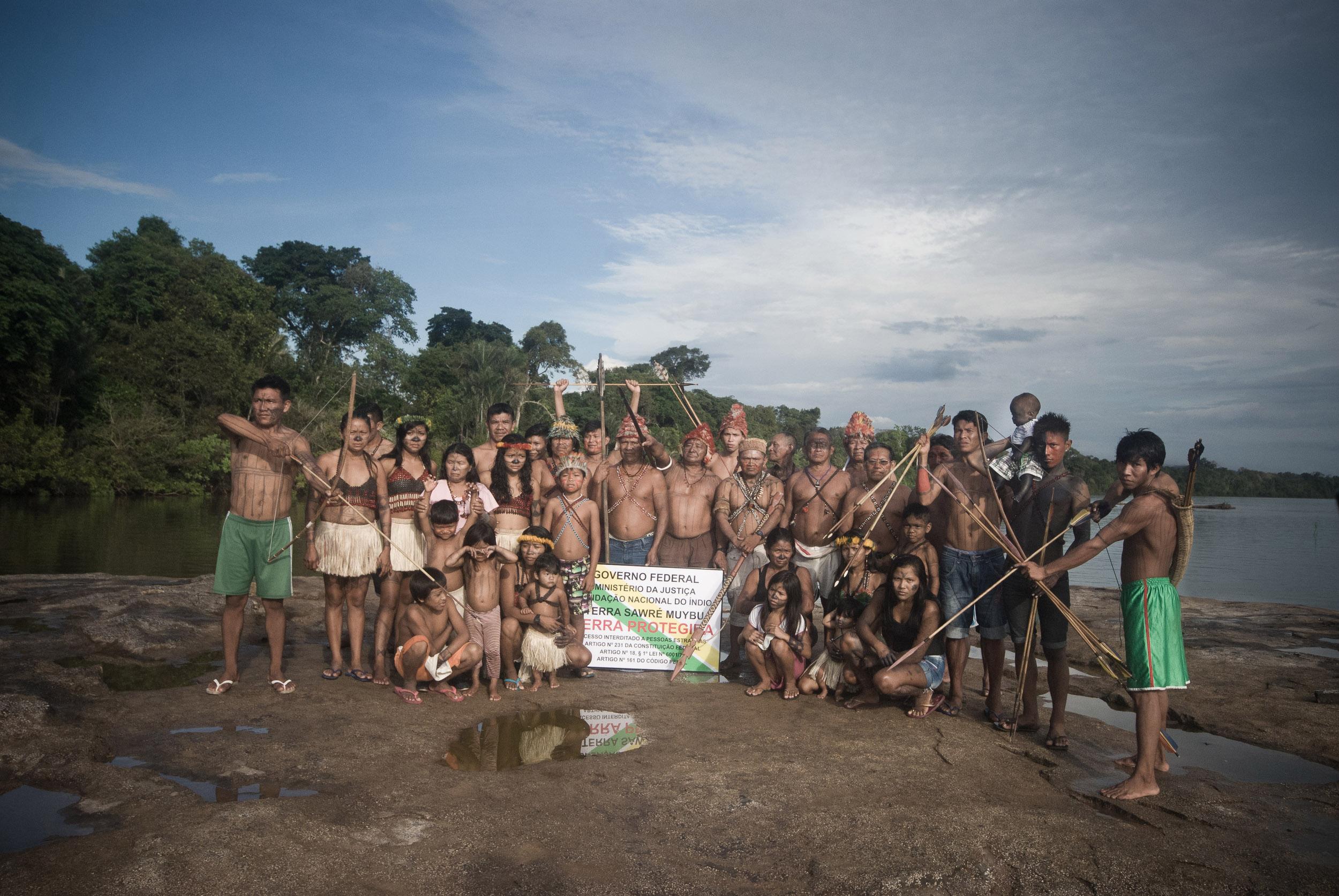 Os Munduruku na auto-demarcação do território (Foto: Anderson Barbosa/Greenpeace)