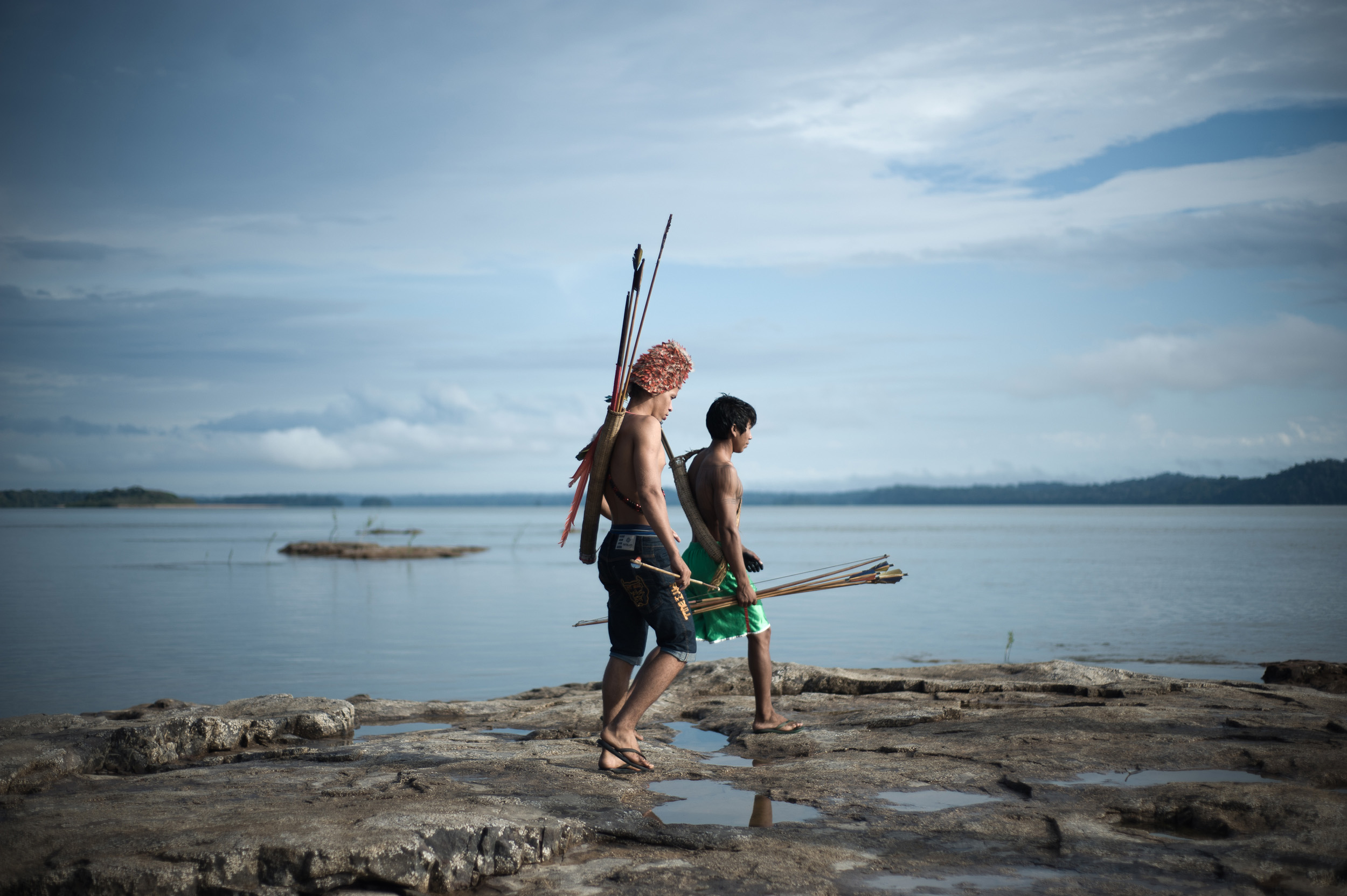 Índios da etnia Munduruku serão afetados pelas obras das hidrelétricas do Tapajós (Foto: Anderson Barbosa/Greenpeace)