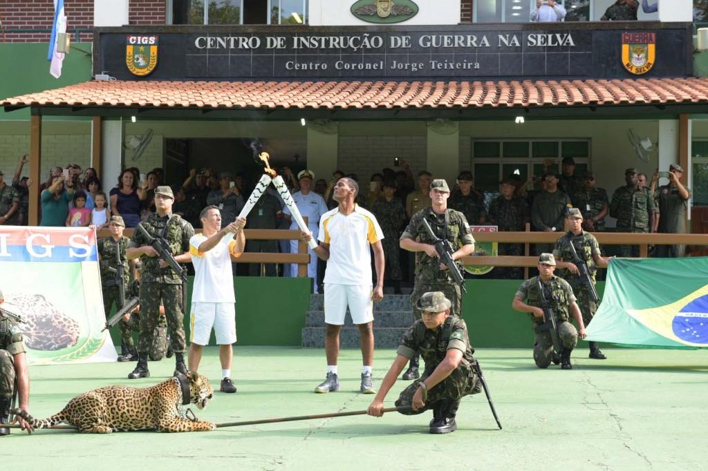 A onça-pintada Simba teve autorização do Ipaam para participar do evento no CIGS (Foto: Valdo Leão/Secom)