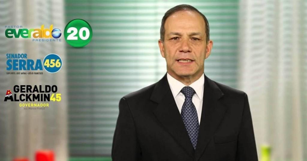 O General Roberto Peternelli, em imagem de campanha para deputado federal pelo PSC.