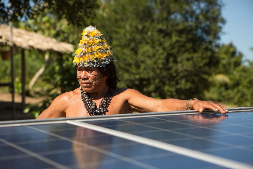 Índio Munduruku (Foto: Otávio Almeida/Greenpeace)
