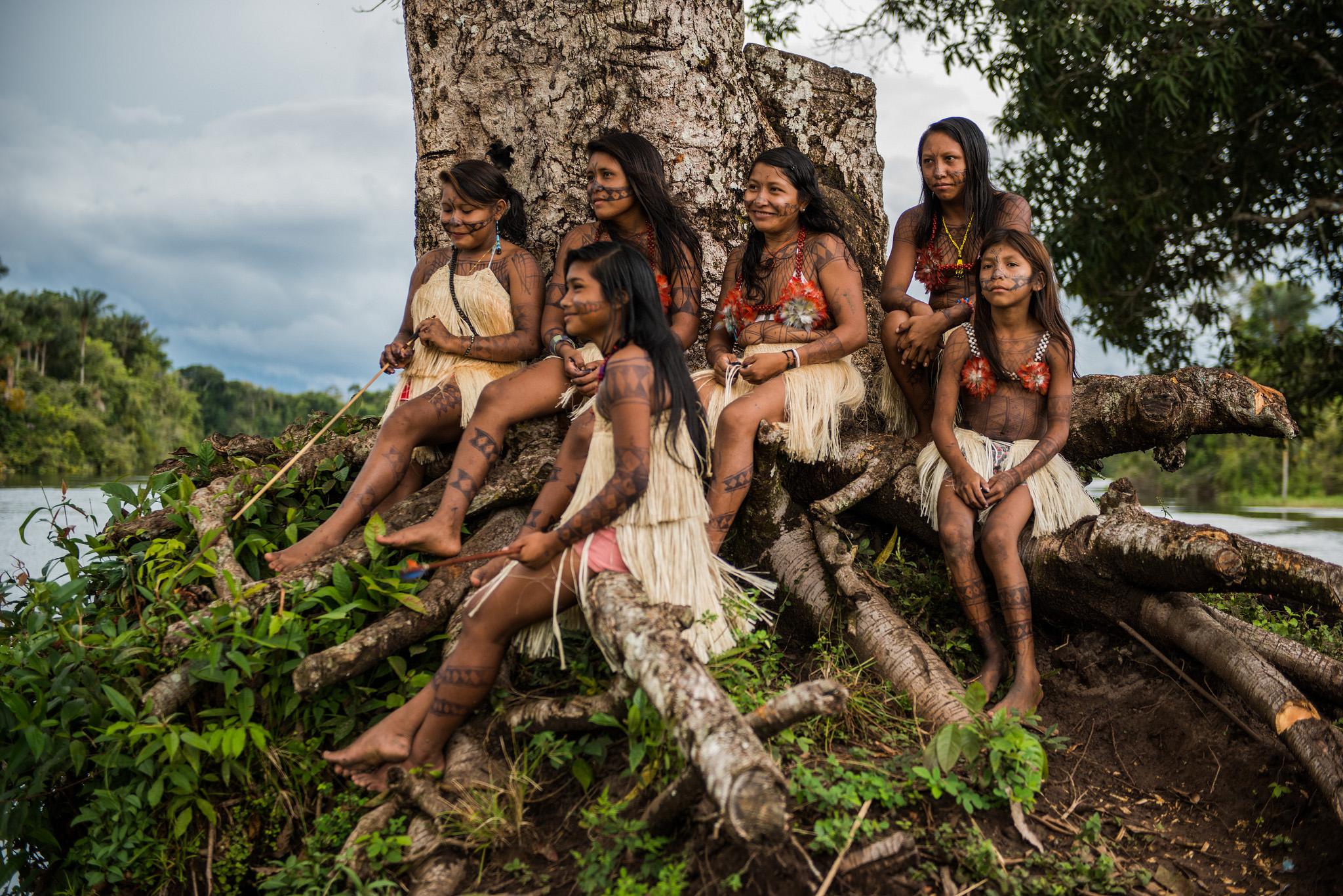 Mulheres Munduruku (Foto: Fábio Nascimento/Greenpeace)