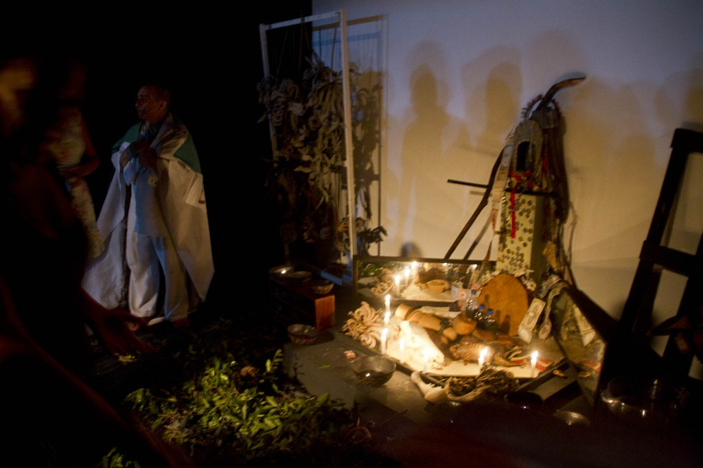 Espetáculo tem performance audiovisual (Fotos: Alberto César Araújo/Amazônia Real)