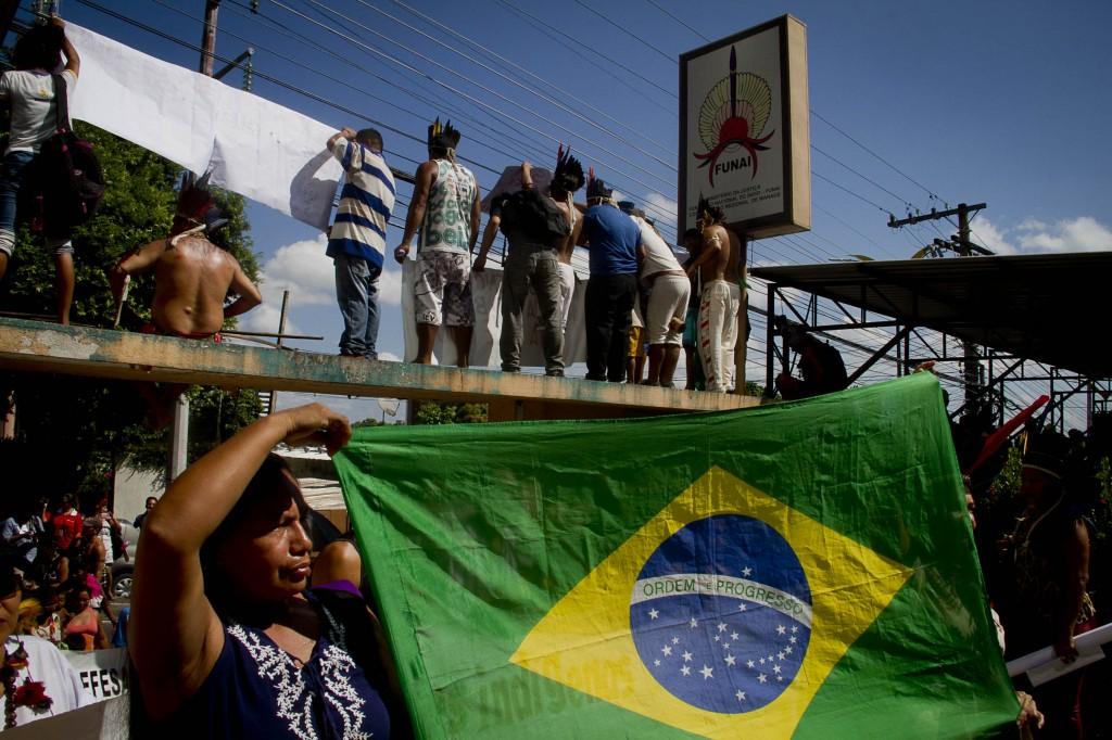 OcupaFunai em Manaus (Foto: Alberto César Araújo\Amazônia Real)