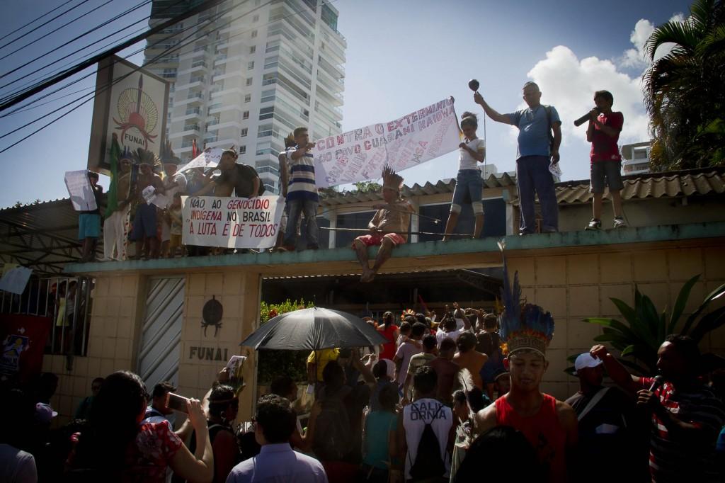 Ocupação da Funai em Manaus (Foto: Alberto César Araújo/Amazônia Real)