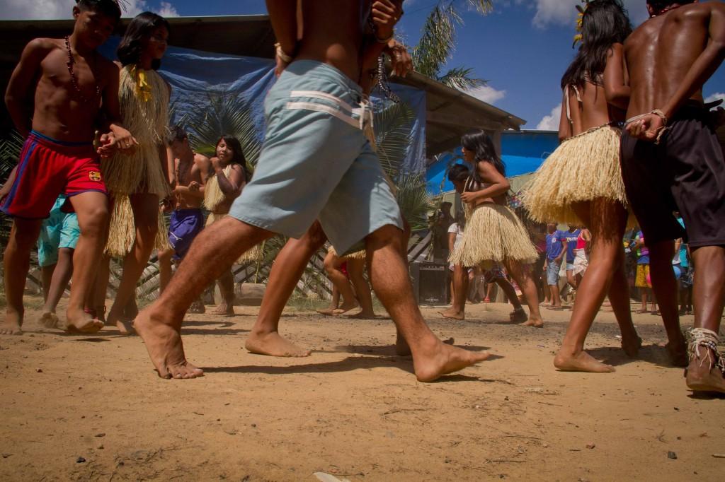 A Parque das Tribos foi criada no quintal de outra comunidade, a Cristo Rei (Foto: Alberto César Araújo/Amazônia Real)
