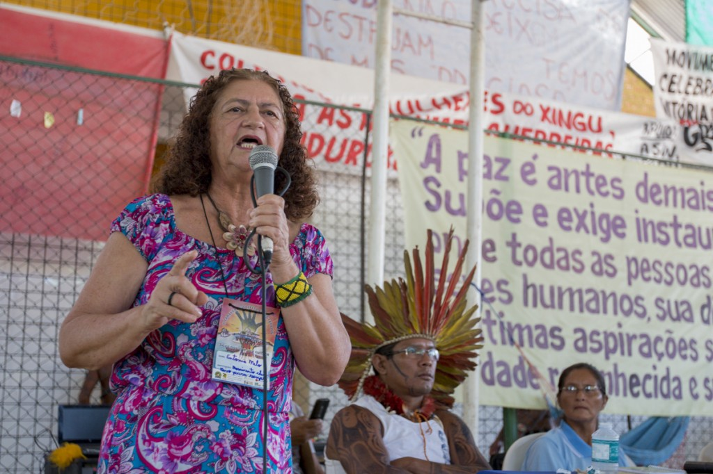 AntÔnia Melo, liderança do  Xingu Vivo (Foto: Ana Mendes/Amazônia Real)