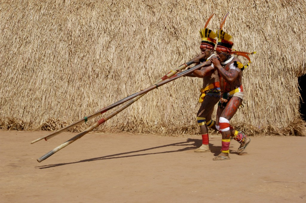 O Kuarup contou com a presença das etnias do Alto Xingu, entre elas, Mehináko, Matipuhy, Kuikuro, Kalapalo, Kamayurá, Waurá, Aweti e Nafukuá. (Foto: José Medeiros/Sedtur-MT)