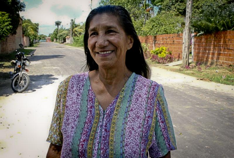 Dona Maria Martins de Souza (Foto: Floriano Lins)