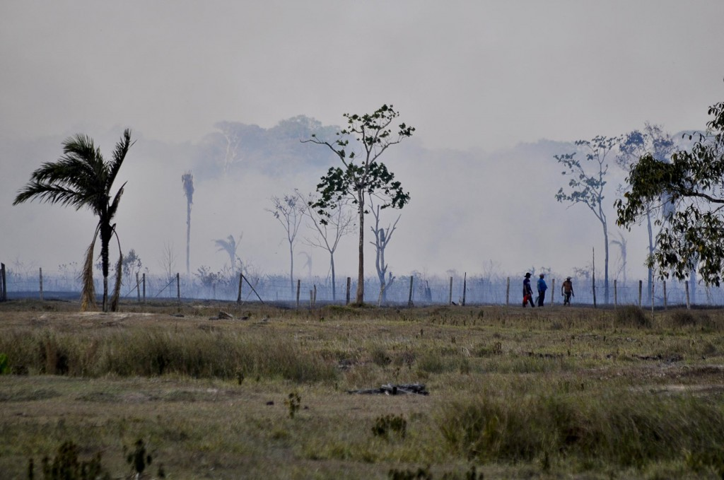 Fumaça das queimadas em Rio Branco, no Acre (Foto:Odair Leal/Amazônia Real)
