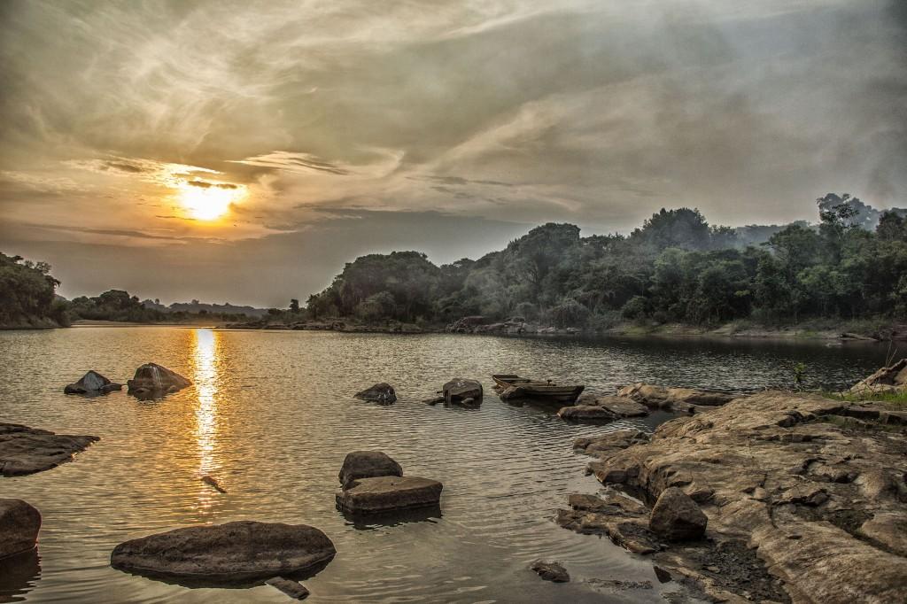 Os pedrais do rio Madeira (Foto: Marcela Bonfim/Amazônia Real)