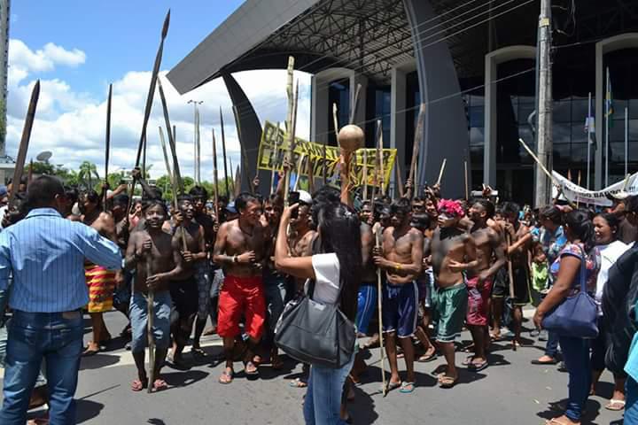 Protestos em Boa Vista, em Roraima (Foto: Alan Yanomami)
