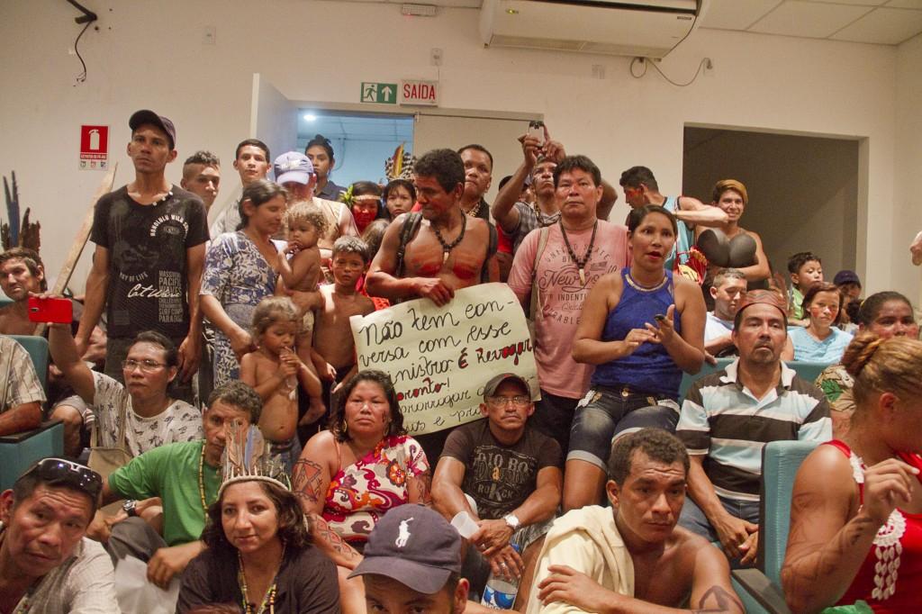 Ocupação da sede da Sesai em Manaus (Foto: Alberto César Araújo/Amazônia Real)