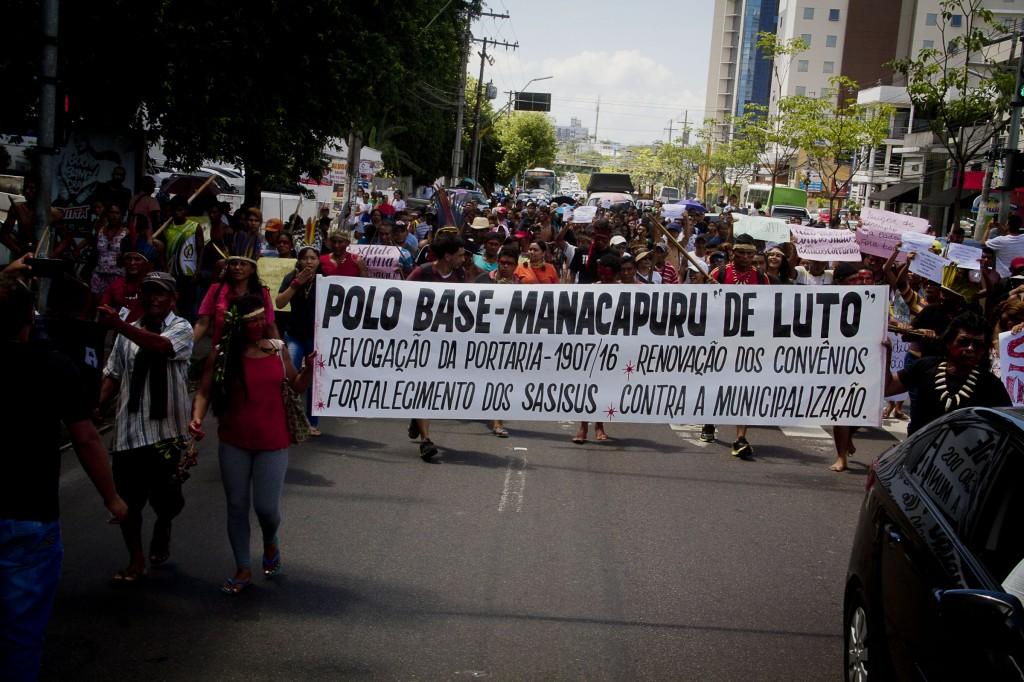 Protestos nas ruas de Manaus (Foto: Alberto César Araújo/Amazônia Real)