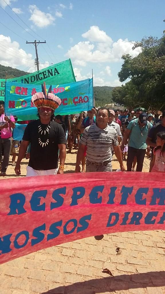 Protesto em Uraimutã, em Roraima (Foto: Enilton Taurepang)